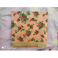 S H A H I T A J Traditional Rajasthani Peach Floral Barati/Groom/Social Occasions Faux Silk Pagdi Safa Turban or Pheta Cloth for Kids and Adults (CT678)