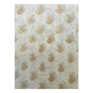 S H A H I T A J Traditional Rajasthani White with Golden Foil Barati/Groom/Social Occasions Silk Pagdi Safa Turban or Pheta Cloth for Kids and Adults (CT679)-Free Size-2