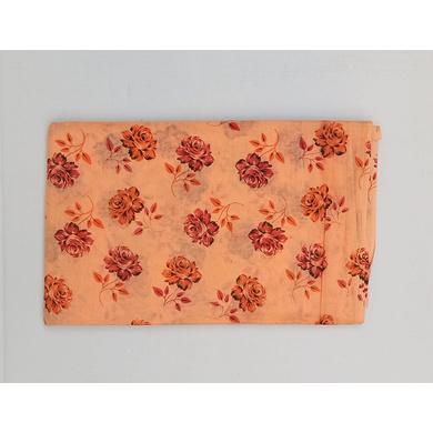 S H A H I T A J Traditional Rajasthani Floral Peach Barati/Groom/Social Occasions PC Cotton Pagdi Safa Turban or Pheta Cloth for Kids and Adults (CT465)-ST28