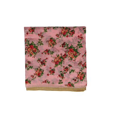 S H A H I T A J Traditional Rajasthani Pink Floral Barati/Groom/Social Occasions Silk Pagdi Safa Turban or Pheta Cloth for Kids and Adults (CT681)-ST801