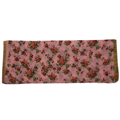 S H A H I T A J Traditional Rajasthani Pink Floral Barati/Groom/Social Occasions Silk Pagdi Safa Turban or Pheta Cloth for Kids and Adults (CT681)-Free Size-2