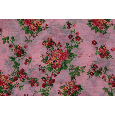 S H A H I T A J Traditional Rajasthani Pink Floral Barati/Groom/Social Occasions Silk Pagdi Safa Turban or Pheta Cloth for Kids and Adults (CT681)-Free Size-1