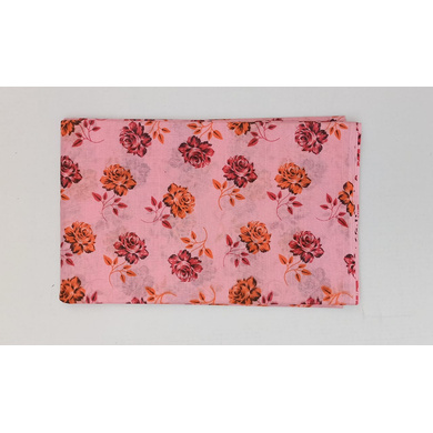 S H A H I T A J Traditional Rajasthani Pink Floral Barati/Groom/Social Occasions PC Cotton Pagdi Safa Turban or Pheta Cloth for Kids and Adults (CT474)-ST594