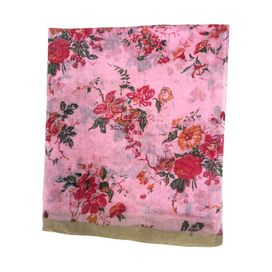 S H A H I T A J Traditional Rajasthani Pink Floral Barati/Groom/Social Occasions Silk Pagdi Safa Turban or Pheta Cloth for Kids and Adults (CT682)-ST802