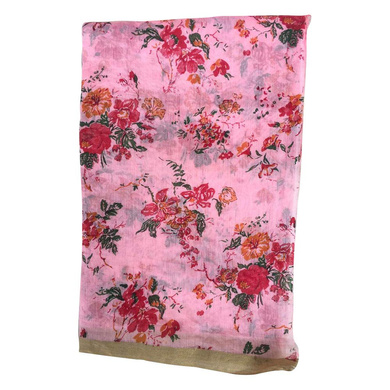 S H A H I T A J Traditional Rajasthani Pink Floral Barati/Groom/Social Occasions Silk Pagdi Safa Turban or Pheta Cloth for Kids and Adults (CT682)-Free Size-1