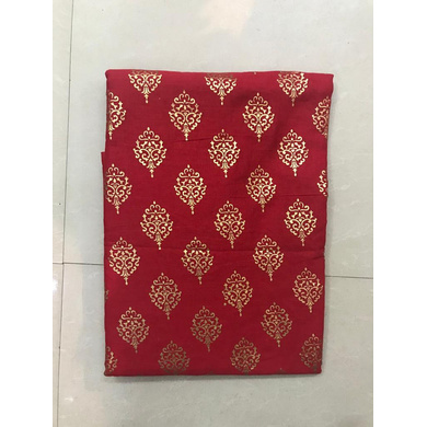 S H A H I T A J Traditional Rajasthani Red with Golden Foil Barati/Groom/Social Occasions Cotton Pagdi Safa Turban or Pheta Cloth for Kids and Adults (CT685)-ST805