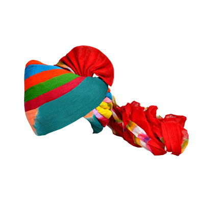 S H A H I T A J Traditional Rajasthani Jodhpuri Cotton Farewell/Retirement/Social Occasions Multi-Colored Pagdi Safa or Turban for Kids and Adults (CT687)-ST807_18andHalf