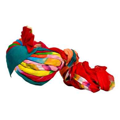 S H A H I T A J Traditional Rajasthani Jodhpuri Cotton Farewell/Retirement/Social Occasions Multi-Colored Pagdi Safa or Turban for Kids and Adults (CT687)-18-3