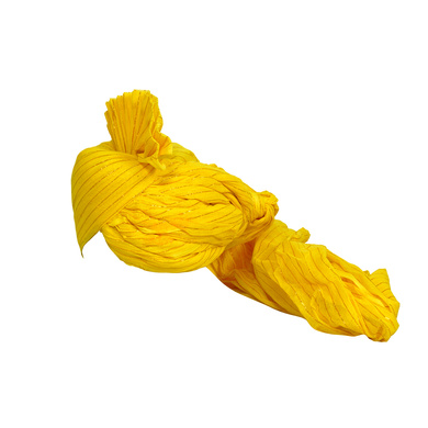 S H A H I T A J Traditional Rajasthani Jodhpuri Cotton Farewell/Retirement/Social Occasions Yellow Straight Line Pagdi Safa or Turban for Kids and Adults (CT688)-18-3