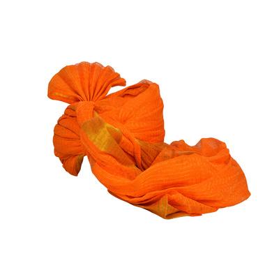 S H A H I T A J Traditional Rajasthani Jodhpuri Cotton Farewell/Retirement/Social Occasions Orange Kotadoriya Pagdi Safa or Turban for Kids and Adults (CT691)-18-4