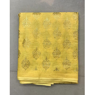 S H A H I T A J Traditional Rajasthani Yellow with Golden Foil Barati/Groom/Social Occasions Cotton Pagdi Safa Turban or Pheta Cloth for Kids and Adults (CT686)