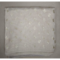 S H A H I T A J Traditional Rajasthani White Barati/Groom/Social Occasions Silk Printed Pagdi Safa Turban or Pheta Cloth for Kids and Adults (CT676)
