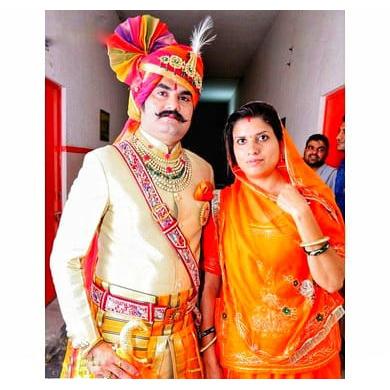 S H A H I T A J Traditional Rajasthani Wedding Jodhpuri & Rajputi Multi-Colored Checkered Georgette Pagdi Safa or Turban for Groom or Dulha (CT255)-ST335_21