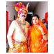 S H A H I T A J Traditional Rajasthani Wedding Jodhpuri & Rajputi Multi-Colored Checkered Georgette Pagdi Safa or Turban for Groom or Dulha (CT255)-ST335_21-sm