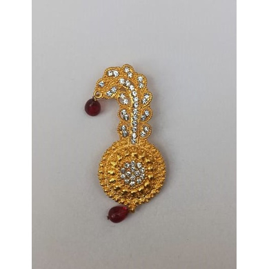 S H A H I T A J Traditional Rajasthani Golden Brooch for Barati/Groom/Social Occasions Pagdi Safa or Turban (OS695)-ST815