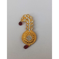 S H A H I T A J Traditional Rajasthani Golden Brooch for Barati/Groom/Social Occasions Pagdi Safa or Turban (OS695)