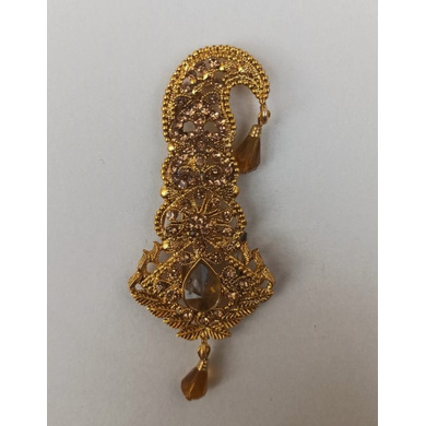 S H A H I T A J Traditional Rajasthani Golden Brooch for Barati/Groom/Social Occasions Pagdi Safa or Turban (OS699)-ST819