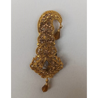 S H A H I T A J Traditional Rajasthani Golden Brooch for Barati/Groom/Social Occasions Pagdi Safa or Turban (OS699)
