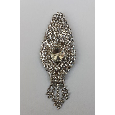 S H A H I T A J Traditional Rajasthani Silver Stone Brooch for Barati/Groom/Social Occasions Pagdi Safa or Turban (OS707)-ST827