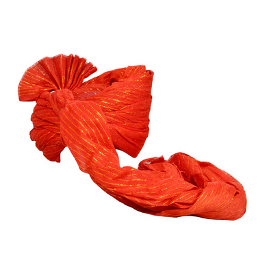 S H A H I T A J Traditional Rajasthani Jodhpuri Cotton Farewell/Retirement/Social Occasions Red Straight Line Pagdi Safa or Turban for Kids and Adults (CT711)-18-4