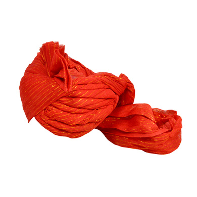S H A H I T A J Traditional Rajasthani Jodhpuri Cotton Farewell/Retirement/Social Occasions Red Straight Line Pagdi Safa or Turban for Kids and Adults (CT711)-18-3