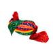 S H A H I T A J Traditional Rajasthani Jodhpuri Cotton Farewell/Retirement/Social Occasions Multi-Colored Bandhej Pagdi Safa or Turban for Kids and Adults (CT718)-18-3-sm