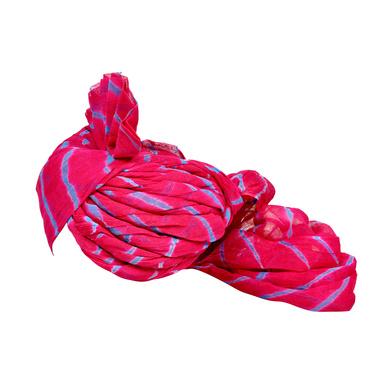 S H A H I T A J Traditional Rajasthani Jodhpuri Cotton Farewell/Retirement/Social Occasions Pink Lehariya Pagdi Safa or Turban for Kids and Adults (CT719)-18-3
