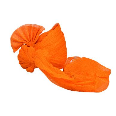 S H A H I T A J Traditional Rajasthani Jodhpuri Cotton Farewell/Retirement/Social Occasions Orange Kotadoriya Pagdi Safa or Turban for Kids and Adults (CT720)-18-4
