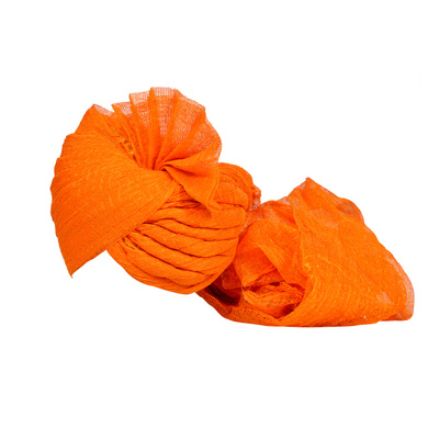 S H A H I T A J Traditional Rajasthani Jodhpuri Cotton Farewell/Retirement/Social Occasions Orange Kotadoriya Pagdi Safa or Turban for Kids and Adults (CT720)-18-3