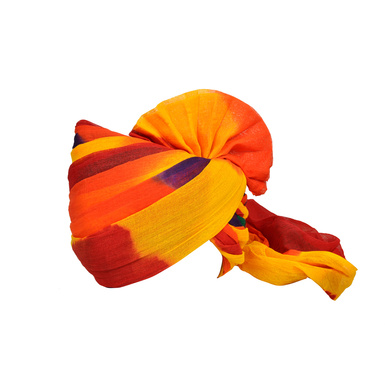 S H A H I T A J Traditional Rajasthani Jodhpuri Cotton Farewell/Retirement/Social Occasions Multi-Colored Pagdi Safa or Turban for Kids and Adults (CT723)-ST843_21andHalf