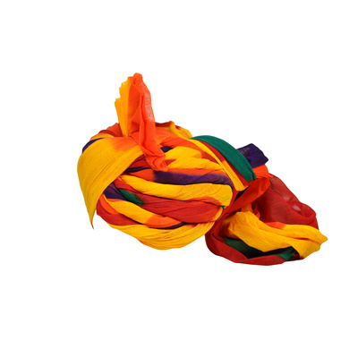 S H A H I T A J Traditional Rajasthani Jodhpuri Cotton Farewell/Retirement/Social Occasions Multi-Colored Pagdi Safa or Turban for Kids and Adults (CT723)-18-3