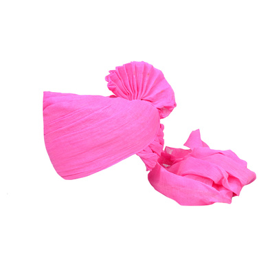 S H A H I T A J Traditional Rajasthani Jodhpuri Cotton Farewell/Retirement/Social Occasions Pink Pagdi Safa or Turban for Kids and Adults (CT724)-ST844_18andHalf