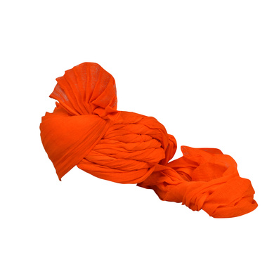 S H A H I T A J Traditional Rajasthani Jodhpuri Cotton Farewell/Retirement/Social Occasions Orange Pagdi Safa or Turban for Kids and Adults (CT728)-18-3