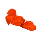 S H A H I T A J Traditional Rajasthani Jodhpuri Cotton Farewell/Retirement/Social Occasions Orange Pagdi Safa or Turban for Kids and Adults (CT728)-18-3-sm