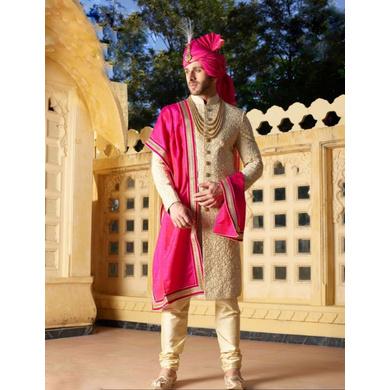 S H A H I T A J Traditional Rajasthani Wedding Pink Silk Jodhpuri Rajputi Pagdi Safa or Turban for Groom or Dulha (CT240)-ST320_21
