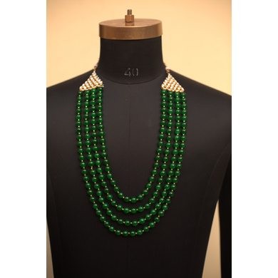 S H A H I T A J  Designer Mala/Kanthla for Weddings/Groom Dress or Sherwani (OS744)-ST864