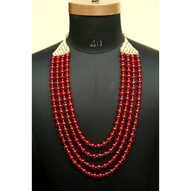 S H A H I T A J  Designer Mala/Kanthla for Weddings/Groom Dress or Sherwani (OS746)-ST866