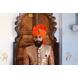 S H A H I T A J Traditional Rajasthani Wedding Barati Orange or Kesariya Cotton Jodhpuri & Rajputi Pagdi Safa or Turban with Brooch for Kids and Adults (CT162)-ST242_18-sm