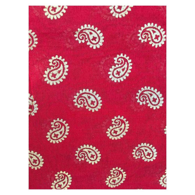 S H A H I T A J Traditional Rajasthani Red with Golden Foil Barati/Groom/Social Occasions Silk Pagdi Safa Turban or Pheta Cloth for Kids and Adults (CT747)-Free Size-2