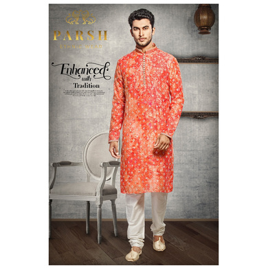 S H A H I T A J Traditional Multi-Colored Dotted Barati/Groom/Social Occasions Silk Kurta Pajama for Adults (MW768)-ST889_38