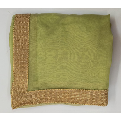 S H A H I T A J Traditional Rajasthani Wedding Pista Green Silk Stole/Dupatta/Shawl for Groom or Dulha (DS770)-ST891