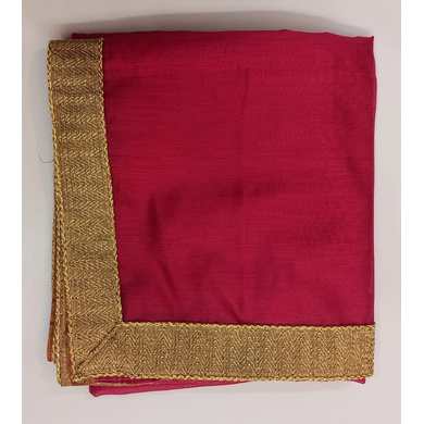 S H A H I T A J Traditional Rajasthani Wedding Rani or Magenta Silk Stole/Dupatta/Shawl for Groom or Dulha (DS772)-ST893