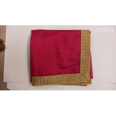 S H A H I T A J Traditional Rajasthani Wedding Rani or Magenta Silk Stole/Dupatta/Shawl for Groom or Dulha (DS772)-Free Size-1