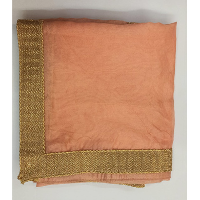 S H A H I T A J Traditional Rajasthani Wedding Peach Silk Stall/Dupatta/Shawl for Groom or Dulha (DS554)-ST677