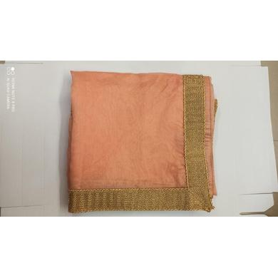 S H A H I T A J Traditional Rajasthani Wedding Peach Silk Stall/Dupatta/Shawl for Groom or Dulha (DS554)-Free Size-1