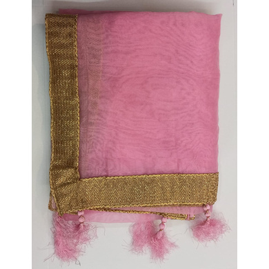 S H A H I T A J Traditional Rajasthani Wedding Baby Pink Silk Stole/Dupatta/Shawl for Groom or Dulha (DS797)-ST894