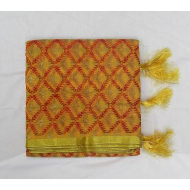 S H A H I T A J Traditional Rajasthani Multi-Colored Checkered Barati/Groom/Social Occasions Faux Silk Pagdi Safa Turban or Pheta Cloth for Kids and Adults (CT777)-ST899