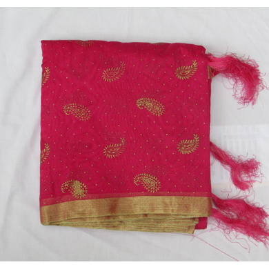 S H A H I T A J Traditional Rajasthani Rani or Magenta Foil Barati/Groom/Social Occasions Faux Silk Pagdi Safa Turban or Pheta Cloth for Kids and Adults (CT781)-ST903