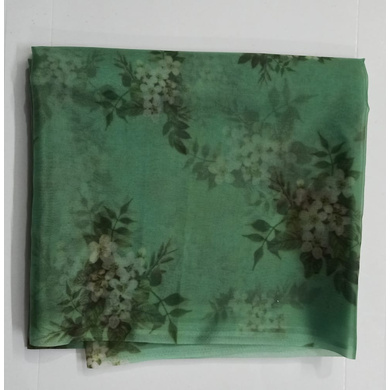 S H A H I T A J Dark Green Floral Barati/Groom/Social Occasions Organza Silk Pagdi Safa Turban or Pheta Cloth for Kids and Adults (CT787)-ST909