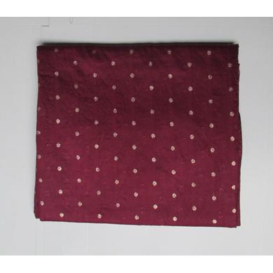 S H A H I T A J Dark Maroon or Wine Colour Dotted Barati/Groom/Social Occasions Silk Pagdi Safa Turban or Pheta Cloth for Kids and Adults (CT789)-ST911